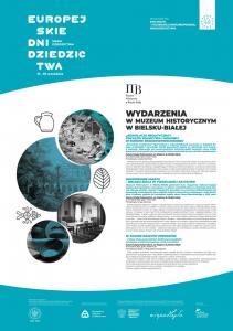 Plakat z informacjami o Europejskich Dniach Dziedzictwa