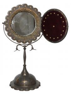 Lustro perskie, stojące, w metalowej oprawie