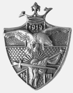 Odznaka <i>Alegoria Polski 16 VIII 1914</i>, MBB/H/3557