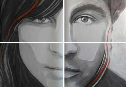 Portret kobiety i mężczyzny.