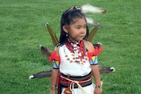 Dziewczynka indiańska w stronu regionalnym