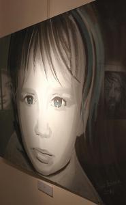 Obraz przedstawiający twarz dziecka