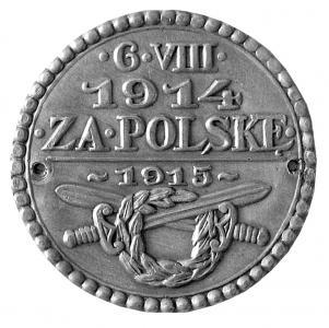 Odznaka pamiątkowa w rocznicę wymarszu I Kadrowej <i>16 VIII 1914 Za Polskę 1915</i>, MBB/H/2314