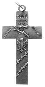 Pamiątkowy krzyż <i>Cześć Bohaterom Poległym za Polskę. Krzywopłoty – Załęże 19 XI 1914 – 19 XI 1916</i>, MBB/H/2416